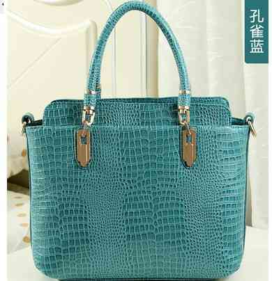 Sale new ladies European and American crocodile pattern leather handbags new mobile Messenger carrying shoulder bags(China (Mainland))