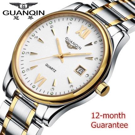 Free shipping top quality 2013 watches men luxury brand GUANQIN GQ80019 waterproof luminous sapphire ultra-thin quartz watch<br><br>Aliexpress