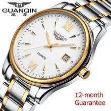 Hot! Watch Men luxury brand GUANQIN New fashion Men's Quartz Watch Casual Watch Dress watch Men Wristwatch relogio masculino
