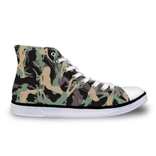 Fashion Women Canvas Shoes Camouflage Printed Casual Teenager Girls Autumn EUR Size 35-40 Lace-Up Ankle Flats - FORUDESIGNS Franchised store