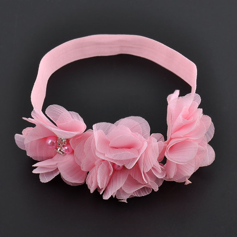 Fashion Chiffon Baby Girl Flower Headband Soft Elastic Hairband Hair Accessories dropshipping