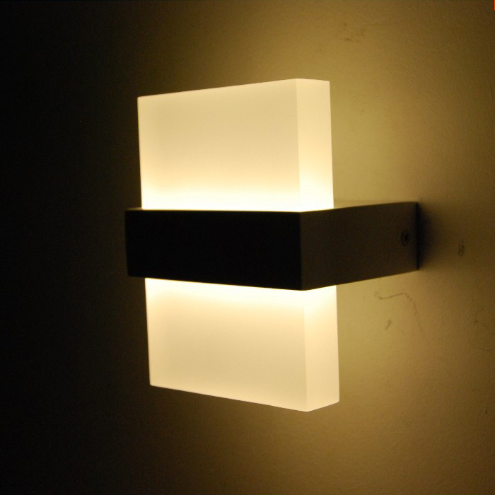 Wall Mounted Lights Modern : lamp led rgb Picture - More Detailed Picture about Modern 6W LED Wall Light Bedroom Bedside Lamp ...