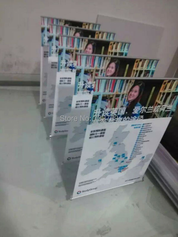 A3 size Aluminum mini table L banner stand,Desktop display stand BST2-9 + graphic(China (Mainland))