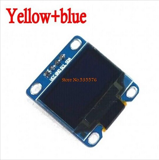 "10Pcs Yellow, blue double color 128X64 OLED LCD LED Display Module 0.96"" I2C IIC SPI Serial new original(China (Mainland))"