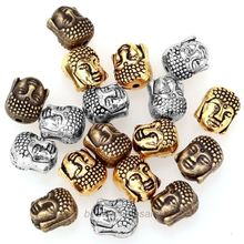 20Pcs Metal Silver Buddha Beads  for Bracelet Jewelry