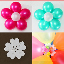10pcs/lot Balloon Seal Clip That Combine 5 Balloons to Flower Shape Multi Balloon Sticks Balloon Accessory(China (Mainland))