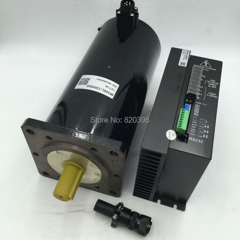 45Nm NEMA54 CNC Stepper Motor Drive Kit 2phase 1.8 Degree 7A 90-220VAC 130HS45+DM2282 130mm Hybrid Stepper Kit Limited)