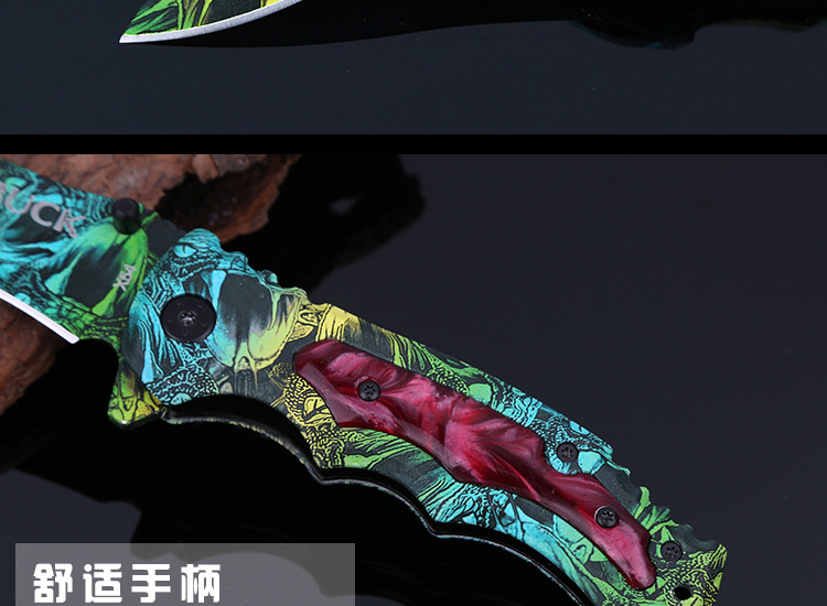 Buy Hot ! Snake Pattern Folding Knife Camping Survival Knife,Hunting Pocket Fruit Knife, So Beautiful Gift Survival Tactical Knife cheap