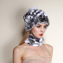 Rabbit Fur Hat 2015 New Style Fashion Design Scarf Genuine Knitted Real Natural Ladies Design Brand Winter Fur Scarves Color(China (Mainland))