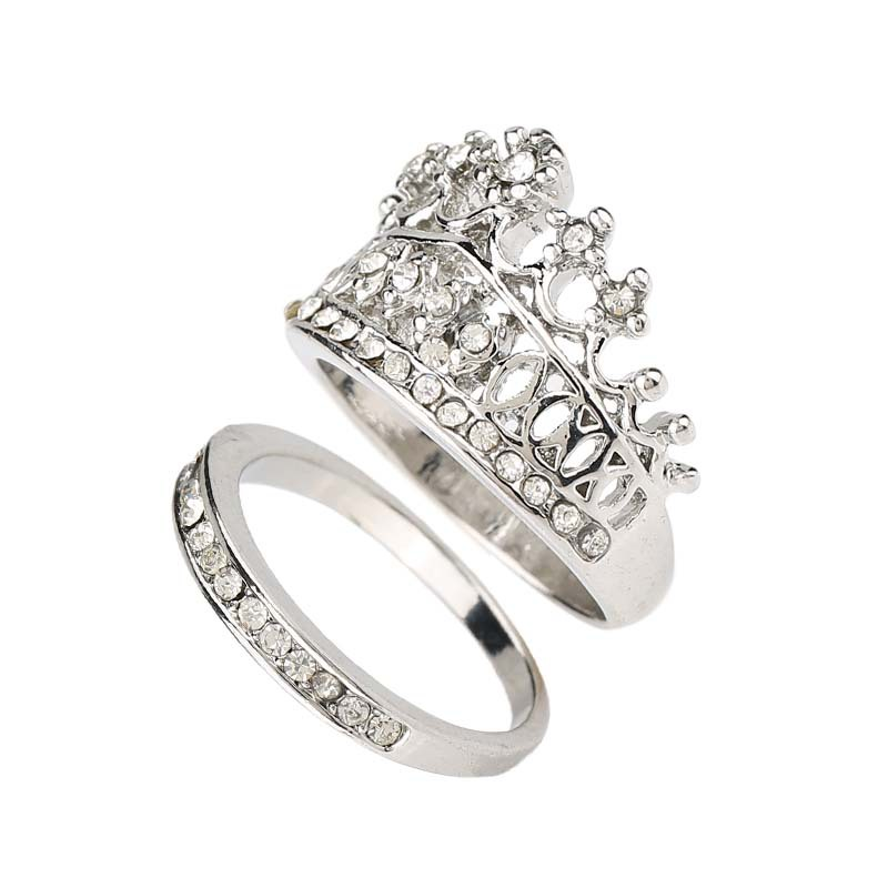Buy Crown Wedding Rings For Women Silver Plated Fashion 2015