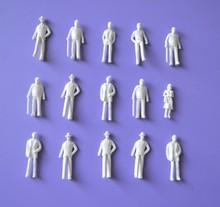 FREE SHIPPING 500pc Wholesale – 1:75scale white figure for Landscape Train Model Scale architectural scenery