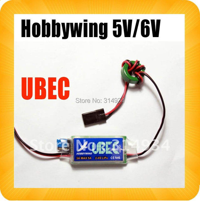 Hobbywing 5V 6V switchable Switch-Mode Ultimate BEC (UBEC)  5A RC 3A U-BEC UBEC 5.5-26V  esc WORK WITH 2-6S LIPO BATTERY