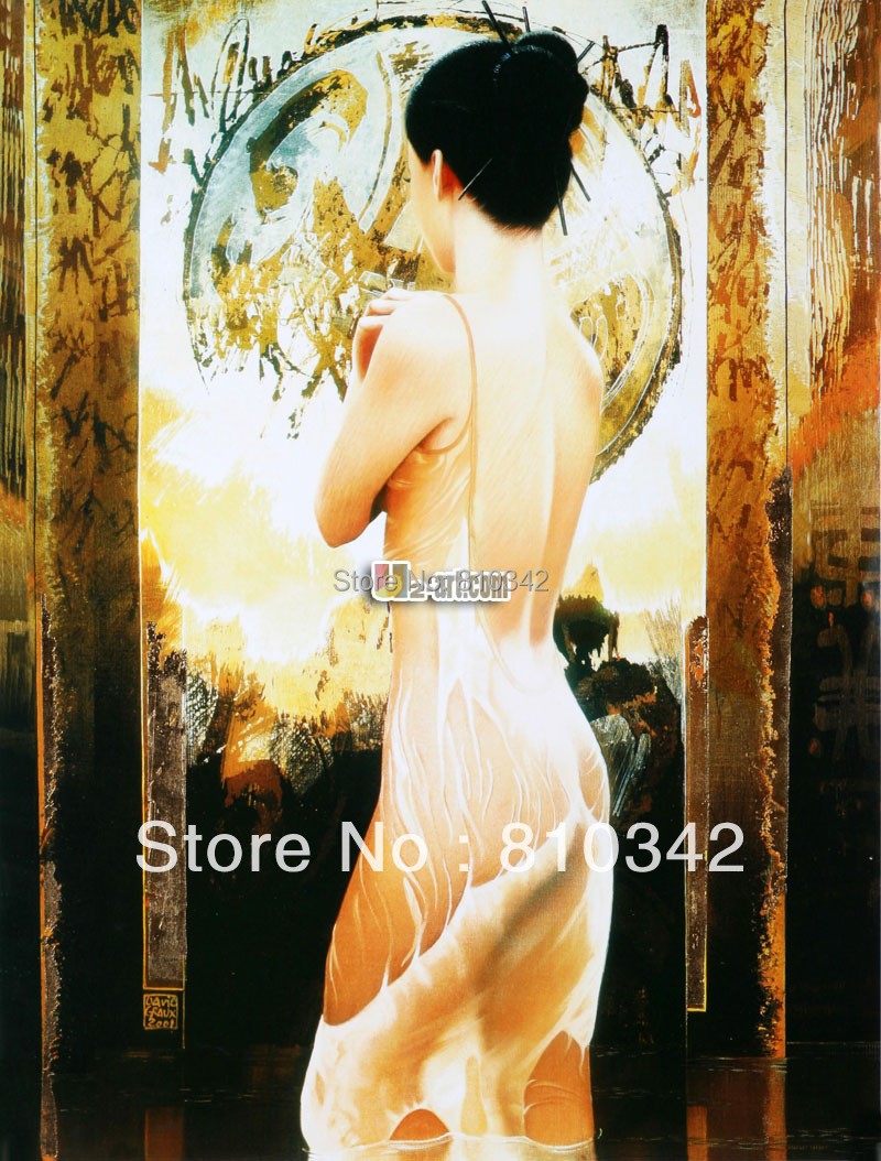 Canvas prints modern art decor oil painting portrait of a sex unknown woman fine gift free shipping 8-PS- (70)(China (Mainland))