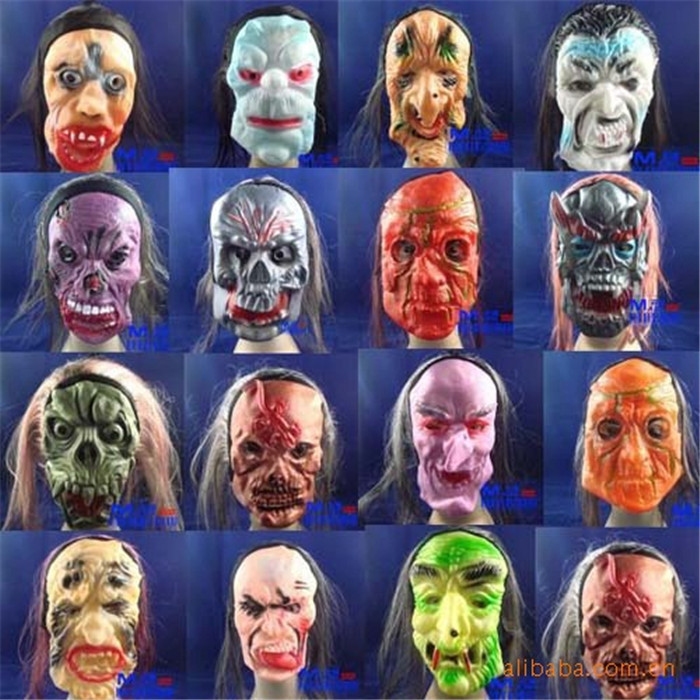 Horrible mask rubber prank funny mask Cosplay ghost mask Blooding Black Long hair Halloween Mask(China (Mainland))