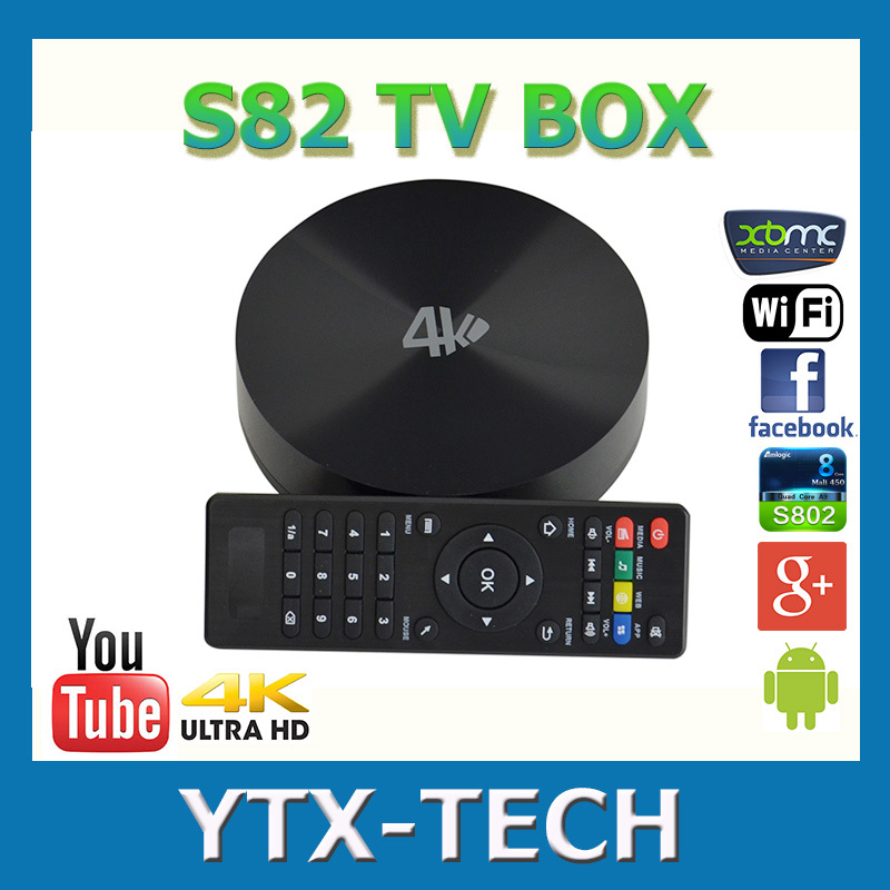 Amlogic S802 quad core tv box S82 android smart tv box 2gb/8gb android 4.4 wifi bluetooth dhl free shipping<br><br>Aliexpress