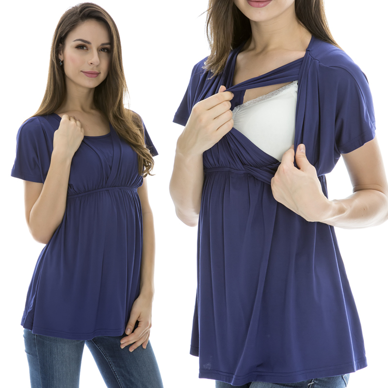 Fashion Maternity tops Comfortable Modal nursing top Breastfeeding tops / Tees for Pregnant Women 3 Color(China (Mainland))