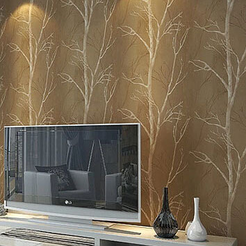 natural design tree Forest textured wallpaper roll wallcovering woods of wall paper background wall home decor for living room(China (Mainland))