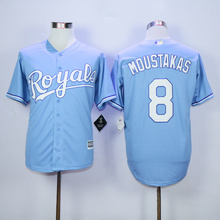 Men's Jersey HIGH QUALITY FAST SHIPPING KANSAS CITY ROYALS BO JACKSON Eric Hosmer Salvador Perez ALEX gordon Jersey(China (Mainland))
