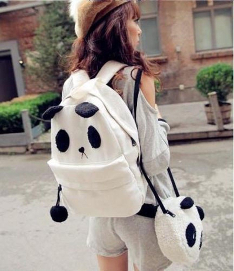 Cute Panda Schoolbag Backpack/Shoulder Book Bag
