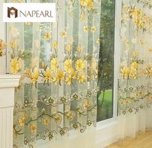 Mode-design moderne transparentem tüll vorhänge für fenster behandlungen wohnzimmer(China (Mainland))