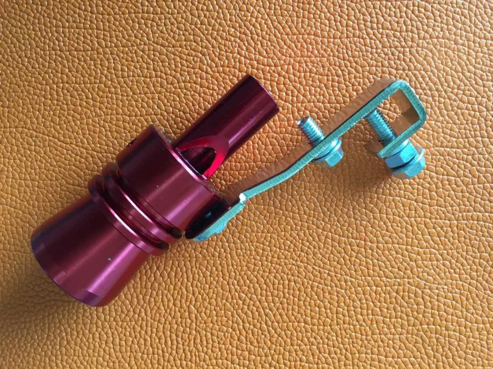 33 мм красный турбо звук свистка глушитель поддельные продувочный BOV симулятор свистун для форда