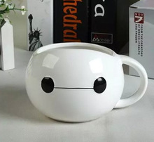 NEW hot sell Lovely porcelain cup mugs Painted Cup Baymax Cup Classical Cute white mug 350ml for tea coffee and milk(China (Mainland))