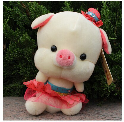 10 pieces cute plush pig toys small pig dolls lovely pig dolls in pink skirt wedding gift about 20cm<br><br>Aliexpress