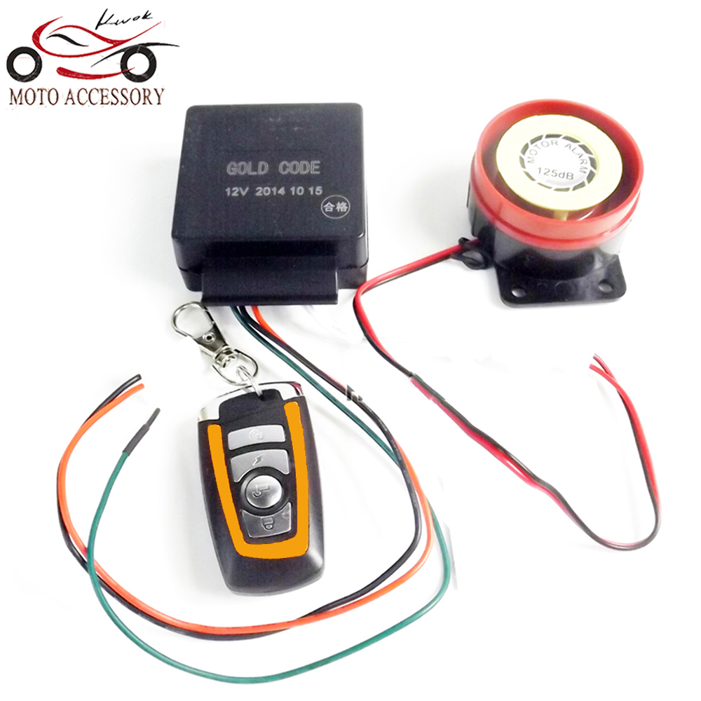 Motorcycle/Scooter/Autobike Anti-theft Security Alarm System 12V Remote Control Engine Start P15(China (Mainland))