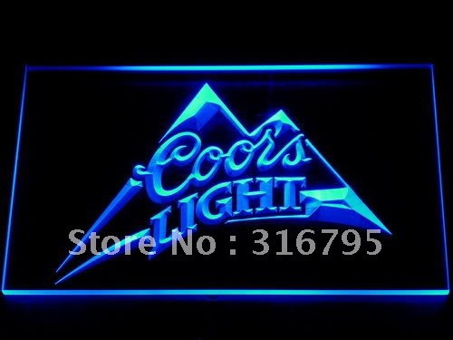 004 Coors Light Beer Bar Pub Logo LED Neon Light Sign(China (Mainland))