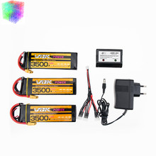 VOK 11.1V 3s Lipo battery 2 / 3pcs 3500mAh 35C max 45C batteries and charger with cable XT60 plug for rc drone Helicopte parts