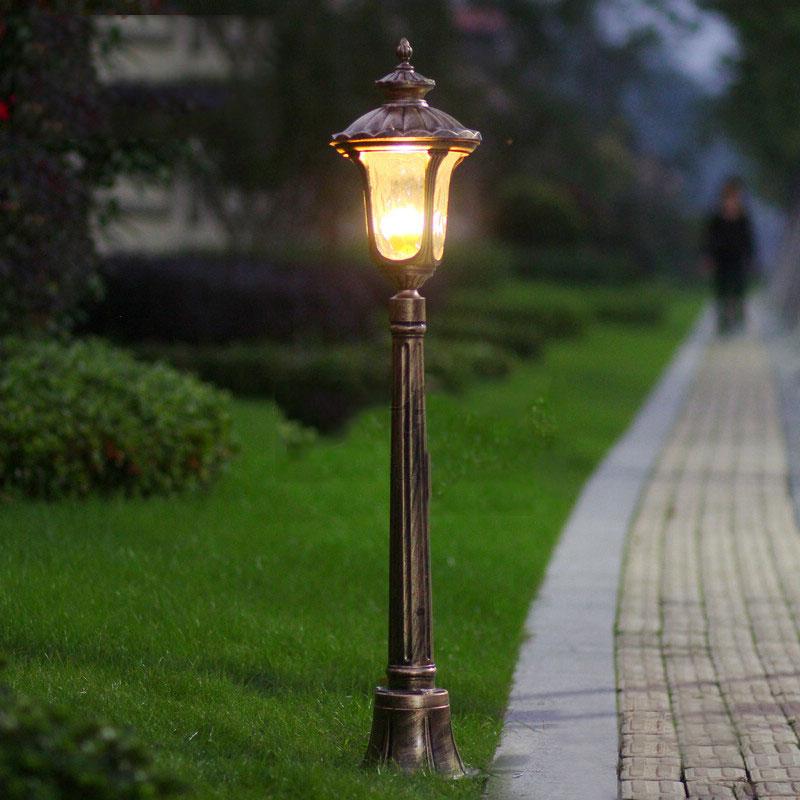 Popular garden bollard lights buy cheap garden bollard for Tall landscape lights
