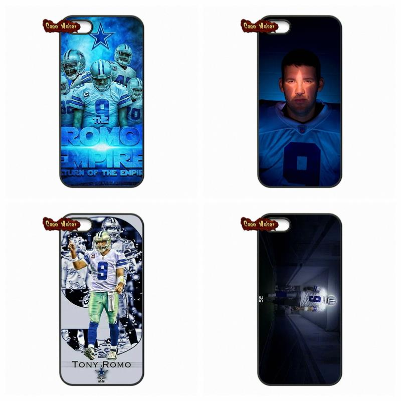 For HTC One M7 M8 iPod Touch 4 5 6 Apple iPhone 4 4S 5S 5 5C 6 6S Plus LG G2 G3 G4 Dallas Cowboys Tony Romo NFL Star Cover Case(China (Mainland))