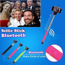 Hot Selfie Stick Bluetooth Handheld Monopod Stick Extendable Tripod Selfie Pau De Palo Selfie Stick For IPhone Samsung android (China (Mainland))