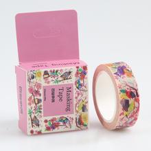 1 Pc / Pack Masking Tape 10 Meter Birds Contend Washi Adhesive Tape Diy Scrapbooking Sticker Label Masking Tape
