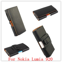 New Black Business Universal Holster Waist hanging Belt Clip PU Leather Pouch Cell Phone Bag Cover Case For Nokia Lumia 920