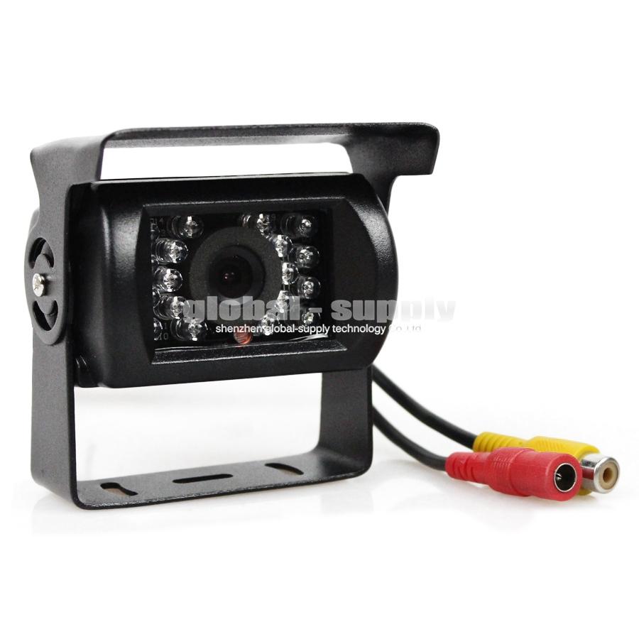 Waterproof 120 Degree Color Ccd Rear View Camera Reverse Backup Car Truck Camera With IR Night Vision(China (Mainland))