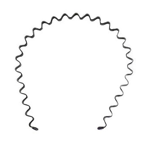 DHBH!5 piece hairband Headband Black UNISEX Sport in metal Soccer Running 4mm(China (Mainland))