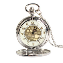 Vintage Large Gold Face Pocket Watch Necklace Women Men Quartz Pocket Watch LXH(China (Mainland))