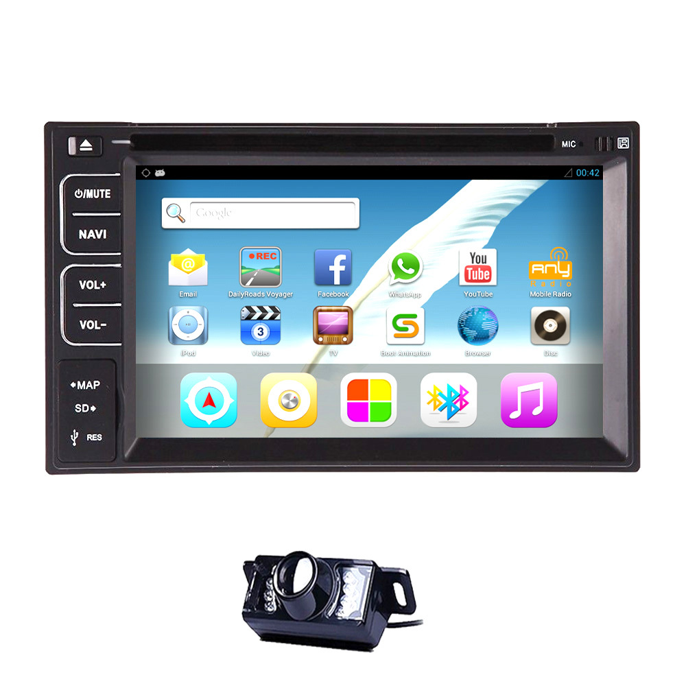 in Dash DVD Player Interchangeable Car Stereo Android 4.2 Double 2 din Car DVD GPS Universal Radio Car Backup Camera Input(China (Mainland))