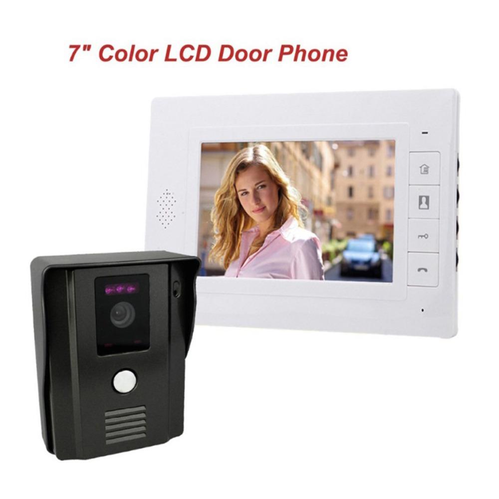 "Best 7"" Color Video Door Phone Doorbell Video Intercom Doorphone IR Night Vision Camera Monitor Kit for Home Security F4338B1(China (Mainland))"