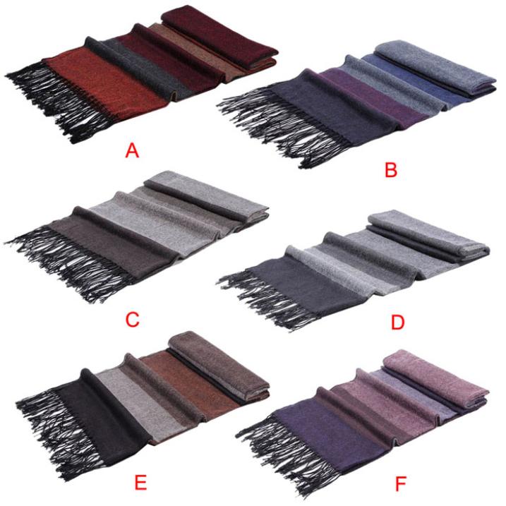 Сказочный 1 пк полоска шарф шаль мужчины пашмина платки кашемир хлопок шарф мужчины вязать шарф шаль