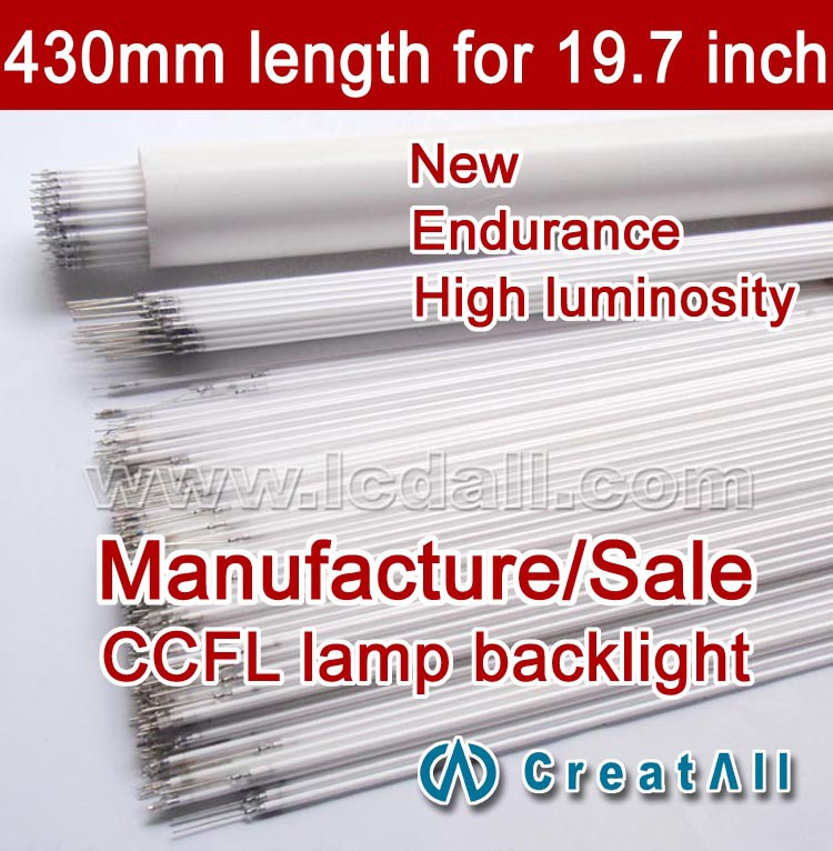 Free shipping 20pcs 19.7'' inch wide sreen LCD CCFL lamp backlight tube,430MM 2.4mm,19.7inch wide sreen CCFL light(China (Mainland))