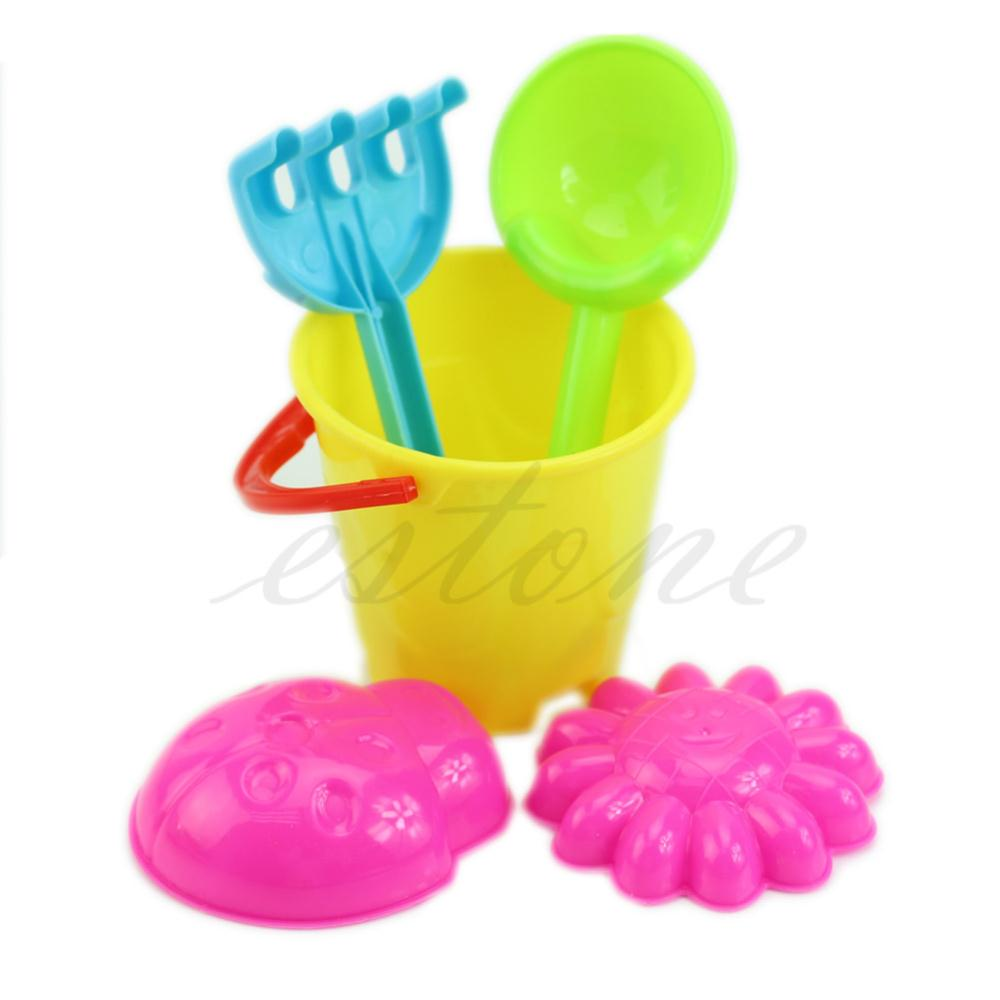 Hot Sale Tiny Beach Sand Toys Tools Bucket Set For Toddler Kids Children New  Free Shipping(China (Mainland))