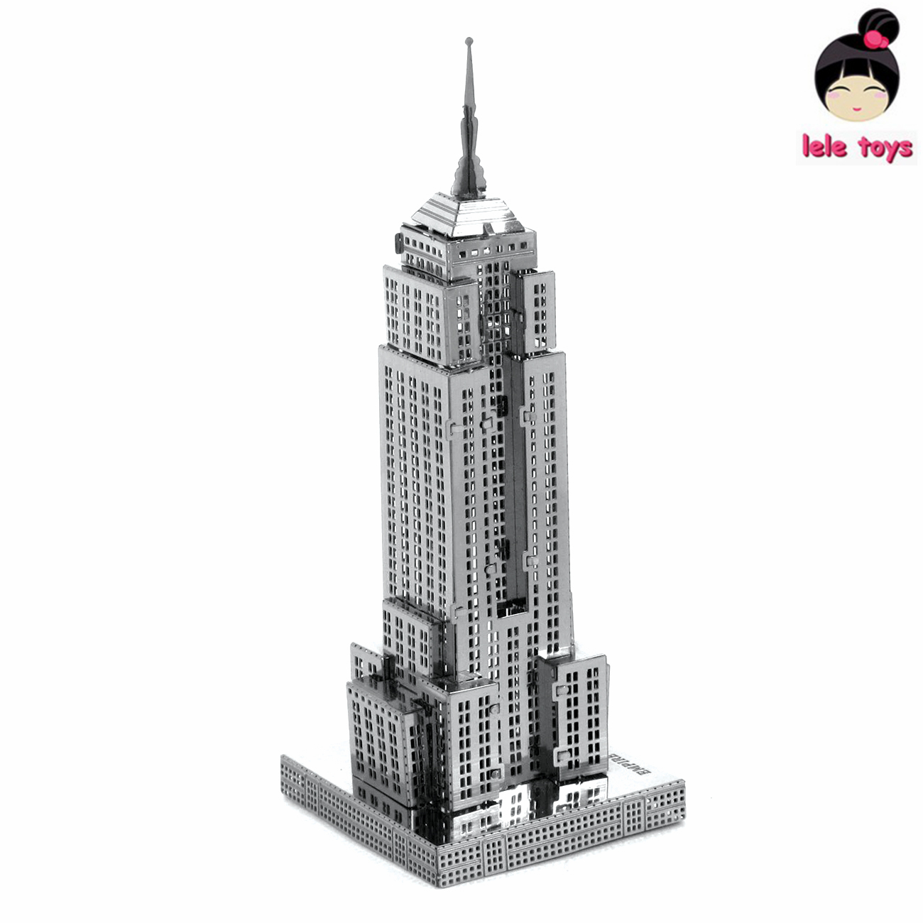Construction Famous buildings over the world 3D Metal model Puzzles EMPIRE STATE BUILDING Chinese Metal Earth stainless steel(China (Mainland))