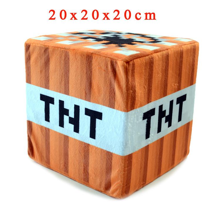 Minecraft Plush Toys 20*20*20cm Minecraft TNT Stuffed Plush Pillow Cushion Mini Bomb Toys Soft Plush Cartoon Game Toy for Kids<br><br>Aliexpress