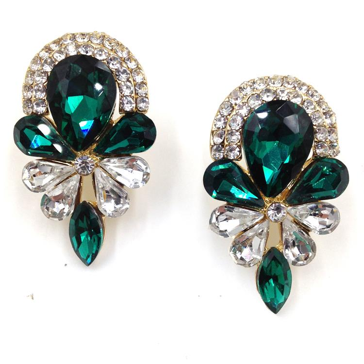 Brilliant Jewelry Earrings 2015 New Design Elegant Stud Earrings Women Fashion
