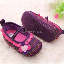Cotton Cloth Four Flower Baby Shoes Striped Sole Shoes for Kids Cute Toddler Shoes