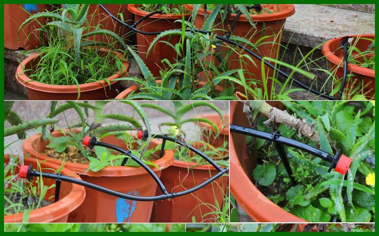 20 m DIY Micro Drip Irrigation System Plant Self Watering
