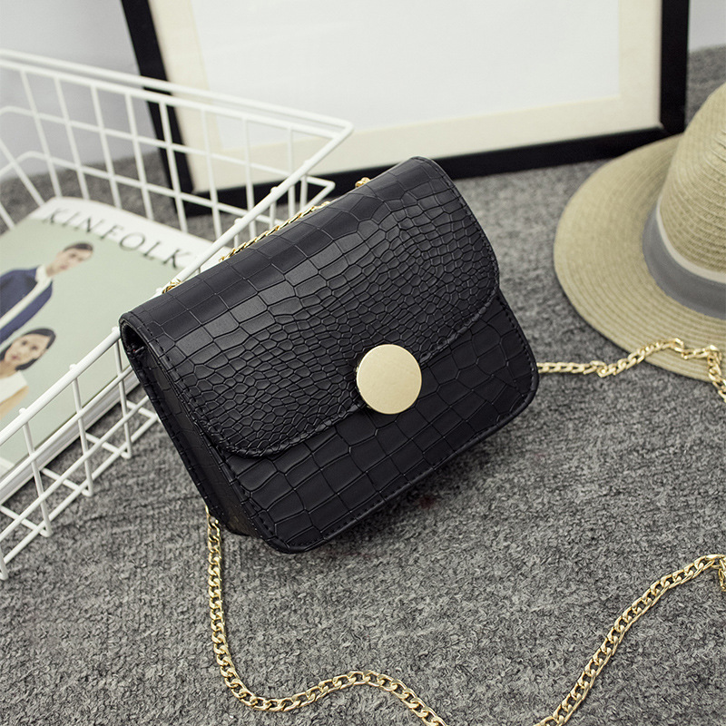 Mini Flap Bag Girls Sling Bags For Women Leather Bags Handbags Women Famous Brands 2016 Alligator Pattern Croco Bag With Chain(China (Mainland))