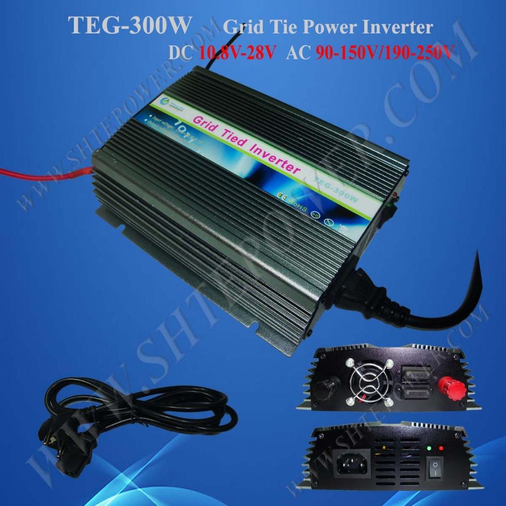 CE certificate DC 10.5-28v 300w on grid inverter, solar grid tie inverter(China (Mainland))